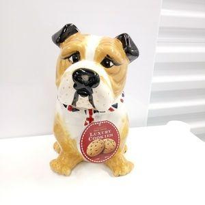 Truly Gifted Luxury Bull Dog Cookie Ceramic Jar